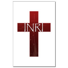 INRI Cross Mini Poster Print