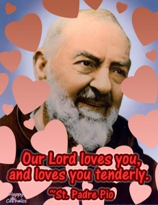 St. Padre Pio Valentine eCard