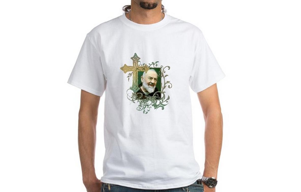 Padre Pio White T-Shirt